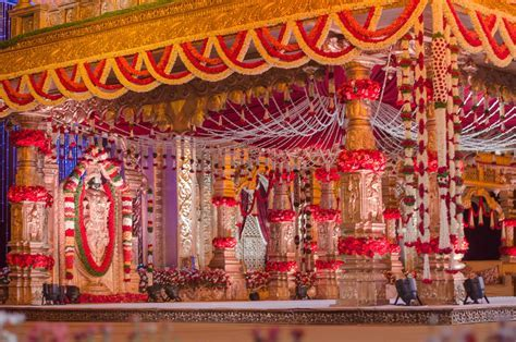 Mandap Decoration to make it look like a temple.   Wedding