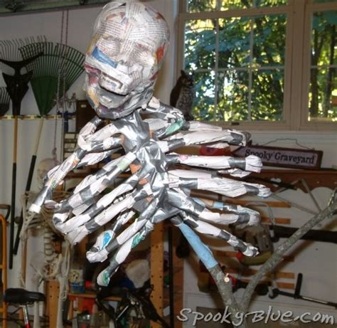 build a paper mache skeleton newspaper bones duct