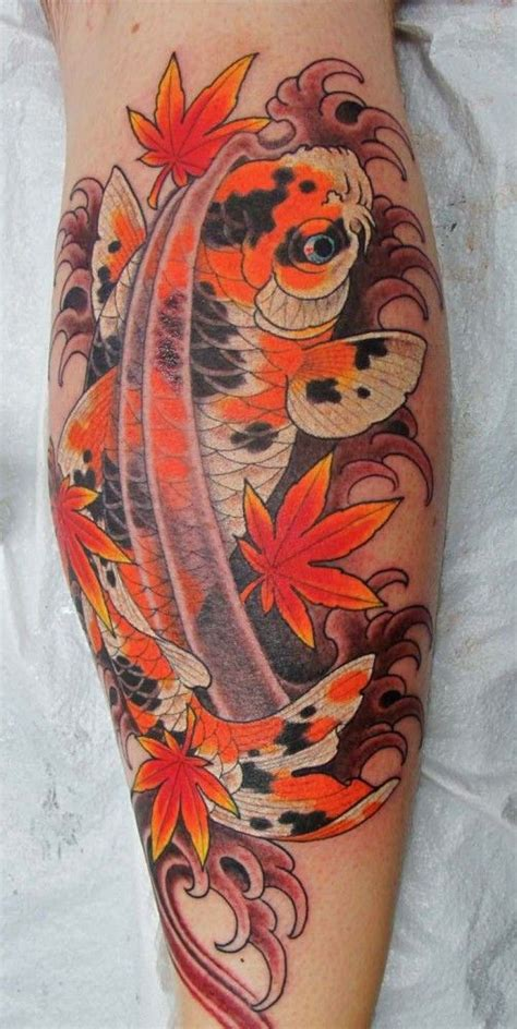 tattoo japanese maple koi tat japanese maple leaf i like it but with a