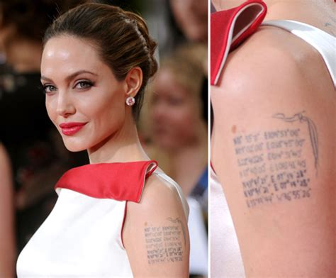 angelina jolie geographical tattoo angelina jolie has the geographical coordinates of each of