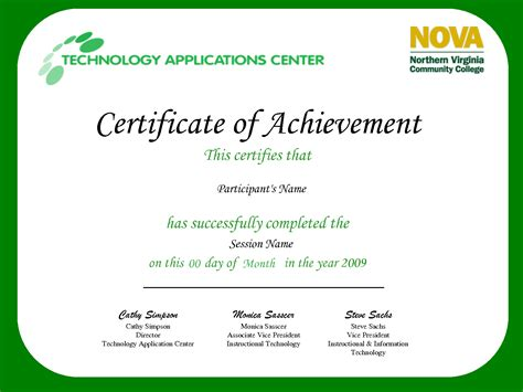 certificate for achievement template best photos of certificate of achievement wording