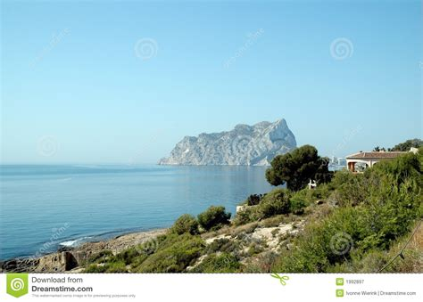 rocks in spanish rock in the spanish sea royalty free stock photography