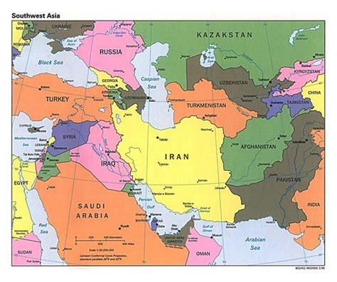 map of asia capitals africa and southwest asia countries and capitals