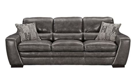 Graphite Leather Sofa by This Is Our Grant Graphite Leather Sofa 999 99