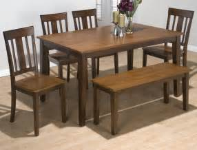 jofran kura canyon 6 piece dining room set w bench