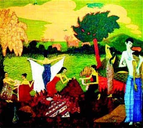 Cetakan Pastel Malaysia seni visual pameran pelukis perintis seni visual moden