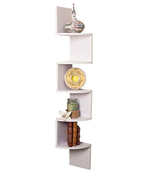 Corner Decorative Shelf by Decornation Corner Wall Shelves Unit Zigzag Shape 5 Curved