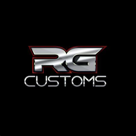 rg designs modern bold logo design for rg customs by square daisy