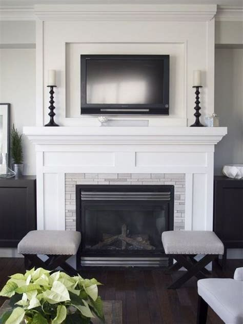 Decorating Fireplace With Tv It by Tv Above Fireplace White Design Home Decorating Trends Homedit