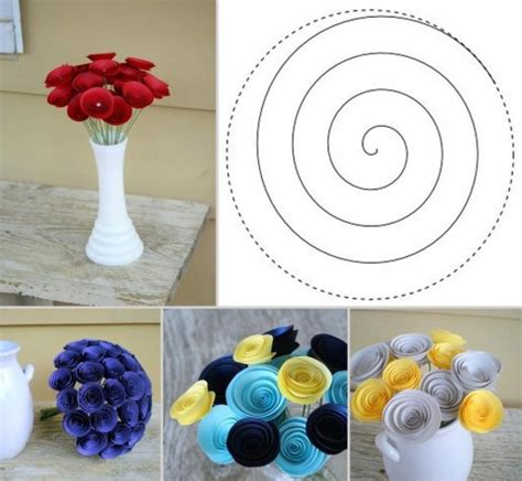 Easy Handmade Flowers - how to make inviting paper flowers step by step diy
