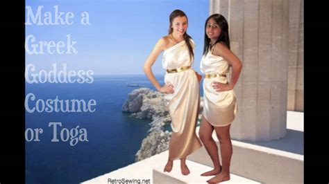 how to make a toga out of a bed sheet make greek goddess costume youtube