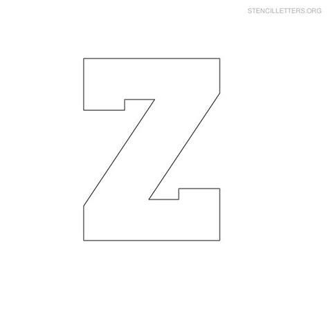 letter z template stencil letters z printable free z stencils stencil