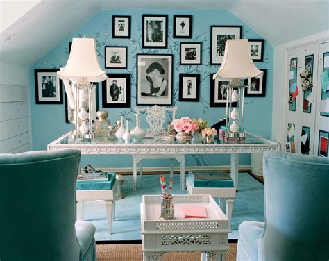 blue chic office interior design inspiration