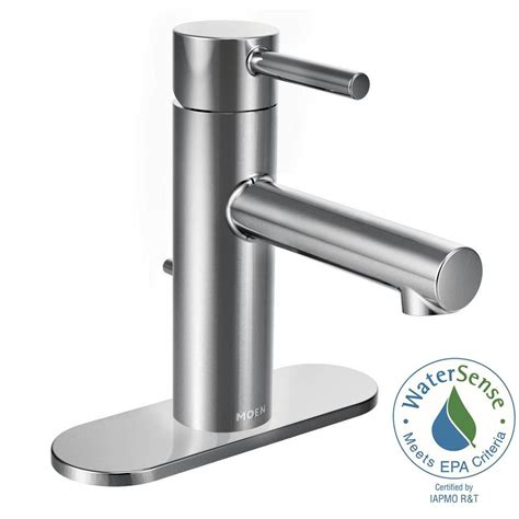 single hole two handle bathroom faucet moen align single hole 1 handle bathroom faucet in chrome 6190 the home depot