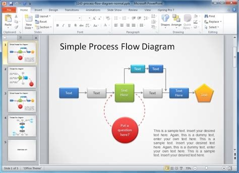process diagram editable powerpoint template quotes