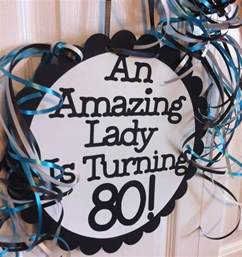 80th decorations 80th birthday decorations favors ideas