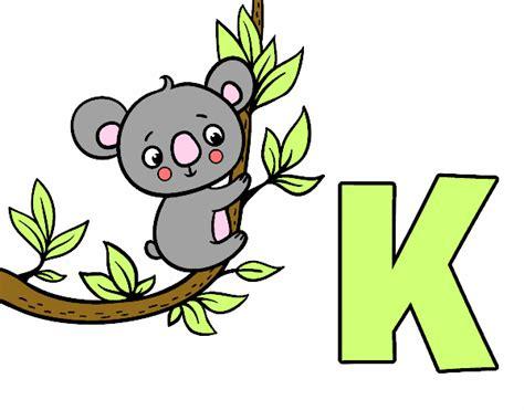 im 225 genes para repasar el vocabulario letra t imagenes con la k dibujo de k de koala pintado por aiyan