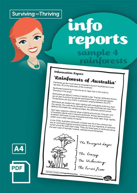 Information Report Template Year 4 Information Reports Surviving And Thriving