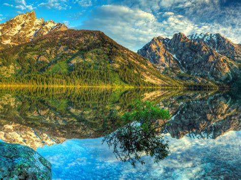 nature hd wallpapers  desktop mountains lake reflection