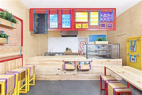 Take Away Shop Interior Design by Kessalao Masquespacio Restaurant Bar Design
