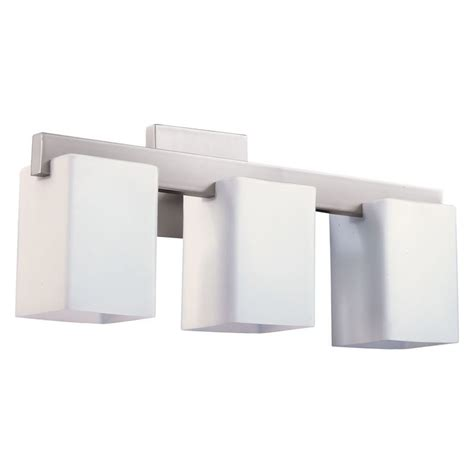 Quorum Bathroom Lighting Quorum International 5076 3 65 Satin Nickel Modus 3 Light Bathroom Vanity Light Lightingdirect