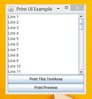 java printable html share print and print preview mechanism java programering
