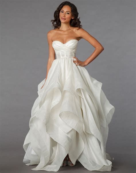 high low ruffle wedding dress pro deal hunters