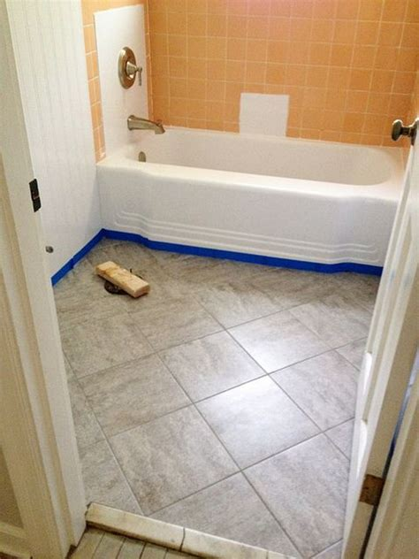 peel and stick tile for bathroom walls remodelaholic bathroom redo grouted peel and stick floor tiles