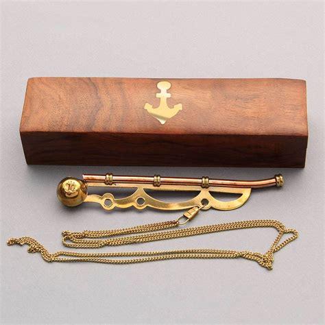 boatswain whistle boatswain s bosun nautical whistle