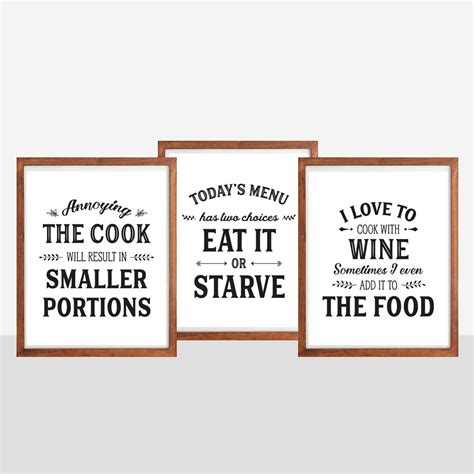 Poster Quotes Wall Bingkai Kayu Kitchen kitchen quotes and sayings www pixshark images galleries with a bite