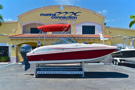 deck boat tow bar used 2012 hurricane sundeck sd 187 ob boat for sale in