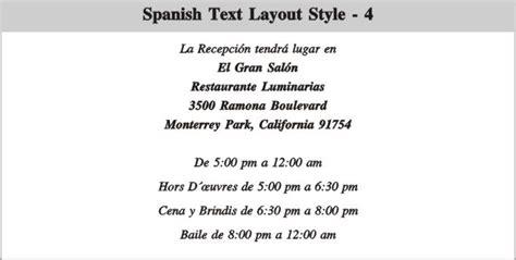text layout en espanol indianweddingcard