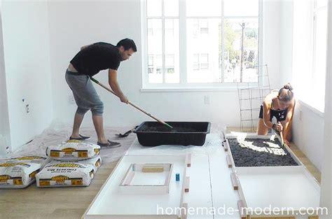 Handmade Kitchen Cabinets homemade modern ep87 concrete kitchen countertops