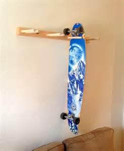 vertical longboard skateboard wall rack mount by proboardracks