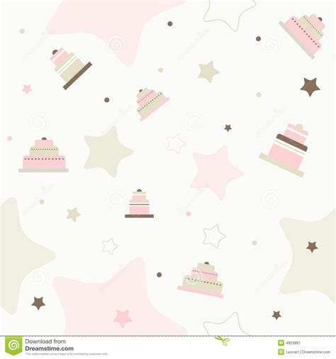 cake background pattern vector cake seamless vector pattern stock image image 4853881