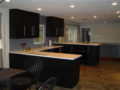 Ebony Stained Oak Kitchen Cabinets Quicua Com Black Stained Kitchen Cabinets