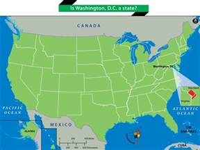 us map that shows washington dc is washington d c a state answers