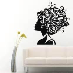 wall decals vinyl sticker comb scissors decal hair