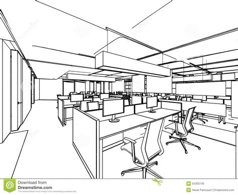 Accuplan Home Office Design Drafting by Outline Sketch Of A Interior Stock Illustration