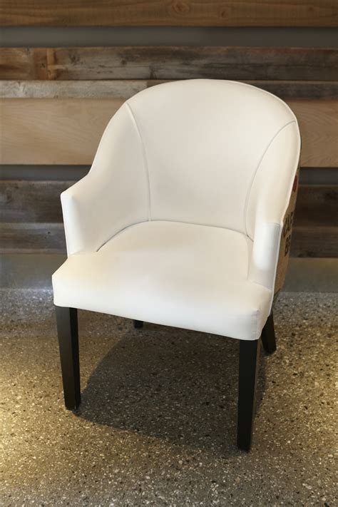 White Faux Leather Burlap Dining Chair Urban Kitchen Shop White Faux Leather Dining Chair