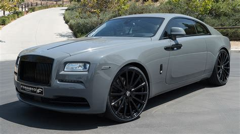 roll royce wraith on rims dub magazine rolls royce wraith on forgiato wheels by