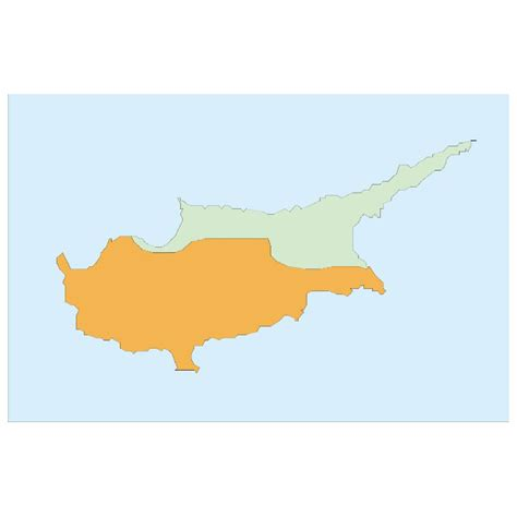cyprus map vector cyprus vector map at vectorportal