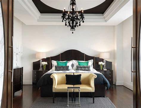 desain dinding kamar hitam putih mewah nan elegan dengan desain interior kamar tidur warna