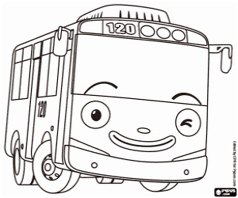 Coloring Page Tayo | coloring pages and the little bus tayo sketch coloring page