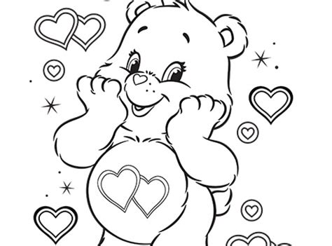 warm winter wishes care bears coloring ag kidzone