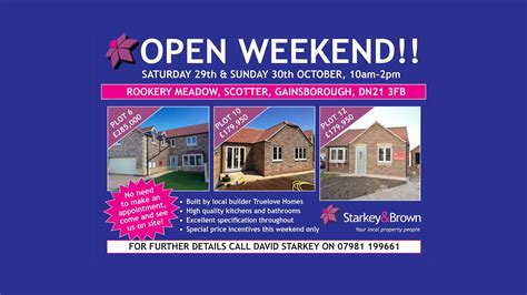 3 New Opening On Weekend by Open Weekend Rookery Scotter Starkey And Brown