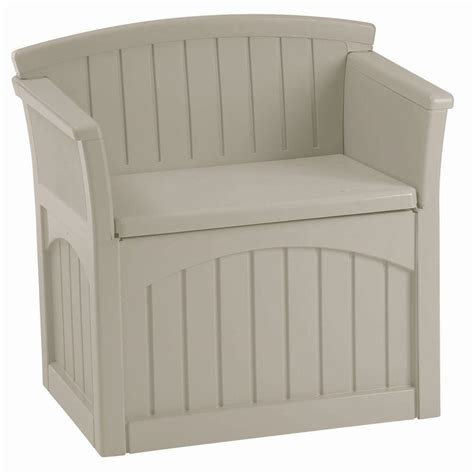home depot patio storage suncast 31 gal patio storage seat pb2600 the home depot