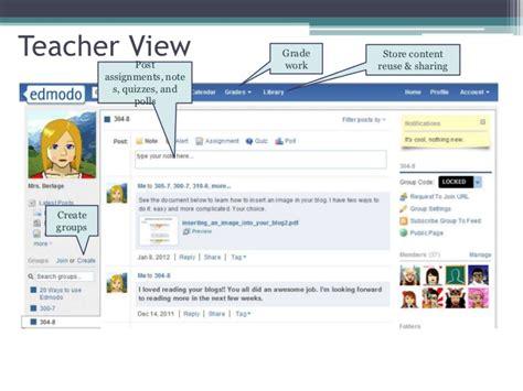 edmodo teacher edmodo a social learning network
