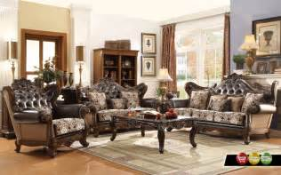 Antique Living Room Furniture Ornate Antique Style French Provincial Traditional Brown