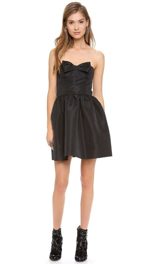 Mini Dress Import 2 valentino strapless bow mini dress in black lyst